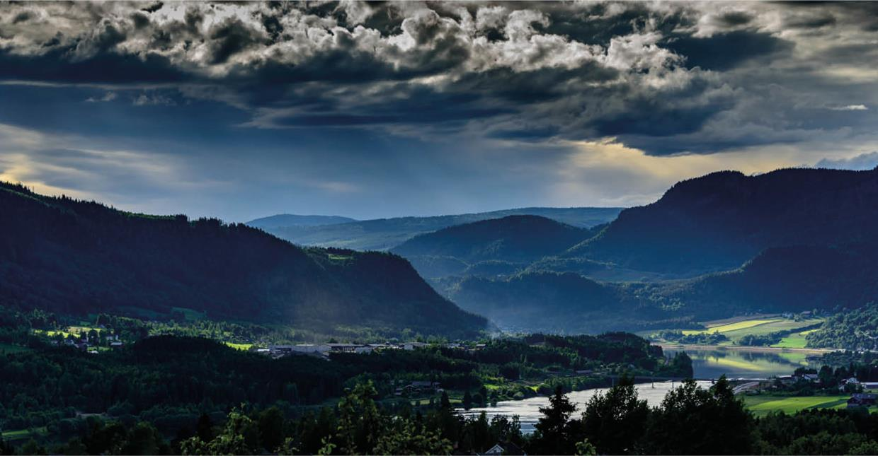 Gudbrandsdalen valley-cloudy