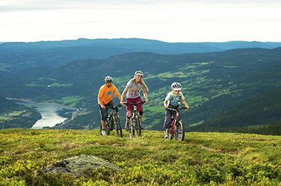 Familiesykling på Hafjell