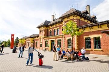 The railway station at Lillehammer