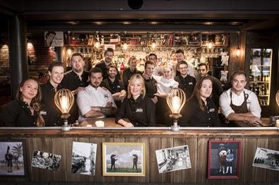 The employees at Heim Gastropub in LIllehammer