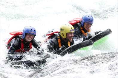 50/50 rafting and riverboarding combination